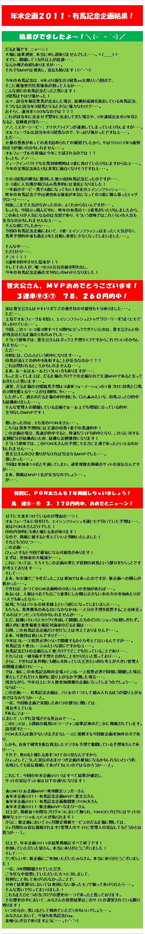 20120130・年末企画2011・有馬記念企画結果.jpg