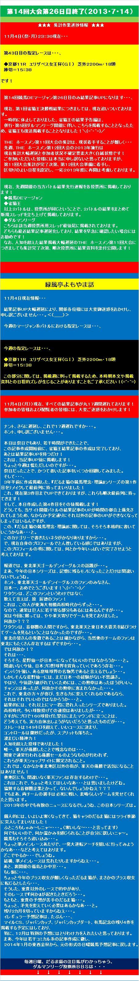20131105・競馬DEマージャン結果③.jpg